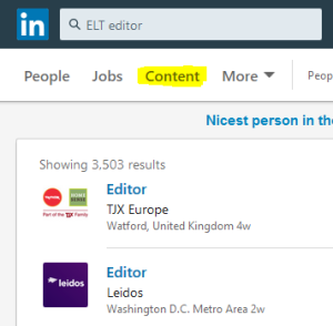 LinkedIn jobs ELT publishng author editor