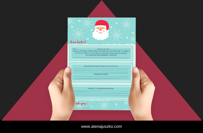Letter to Santa growth mindset atena juszko
